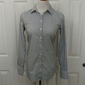 Ann Taylor striped button-down shirt